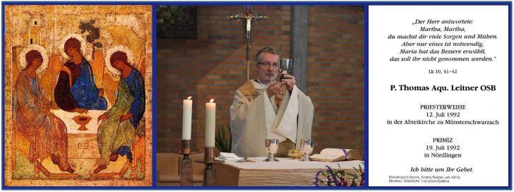 Fr. Thomas Holy Card