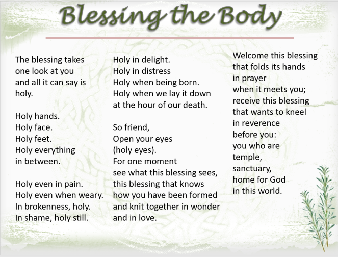 blessing the body